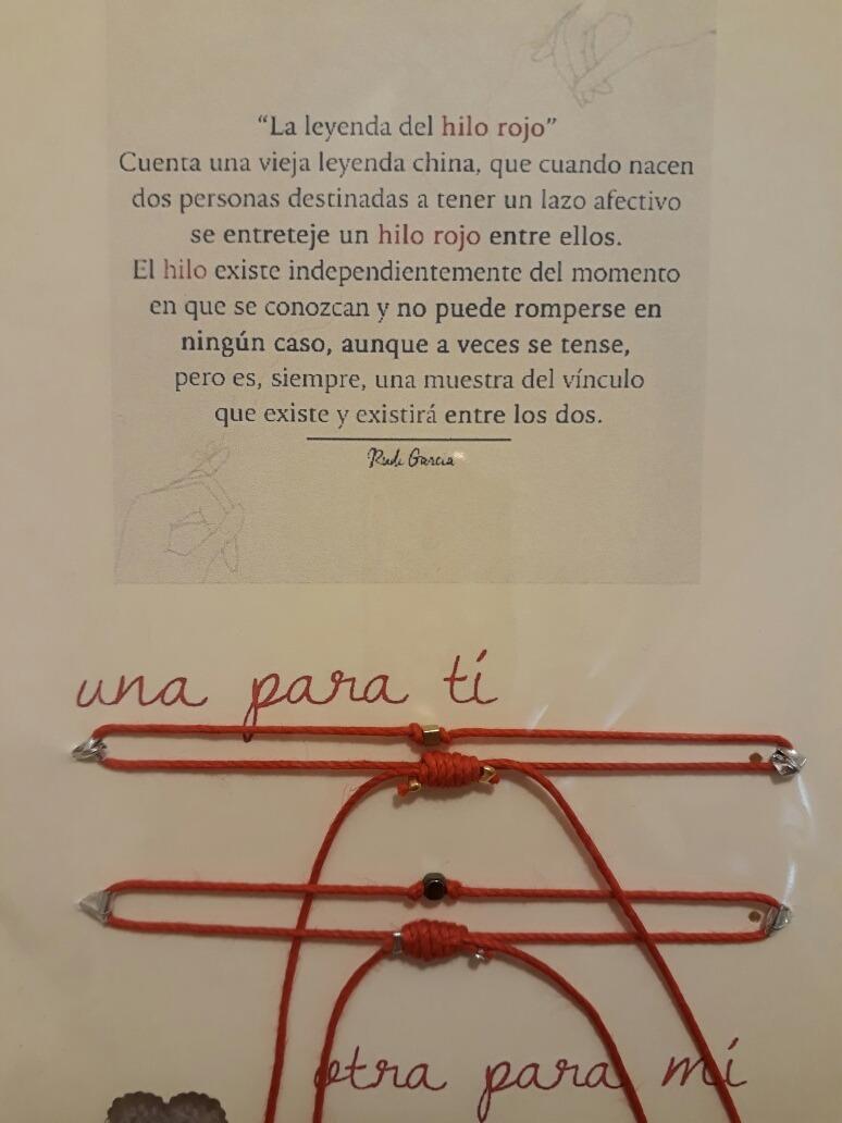 Pulsera Para Pareja Hermanas Leyenda Del Hilo Rojo 12500 En