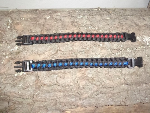 pulsera paracord 550 cobra de supervivencia 2 colores