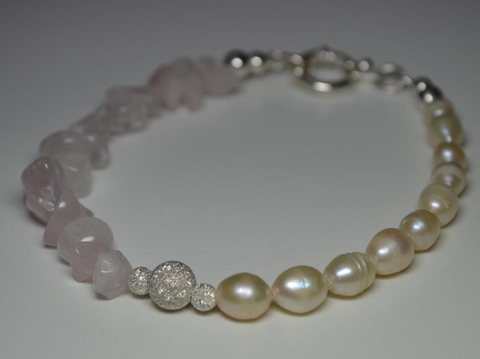 640b2dfe5592 pulsera perlas cuarzo rosa marinero plata 925 italiana. Cargando zoom.