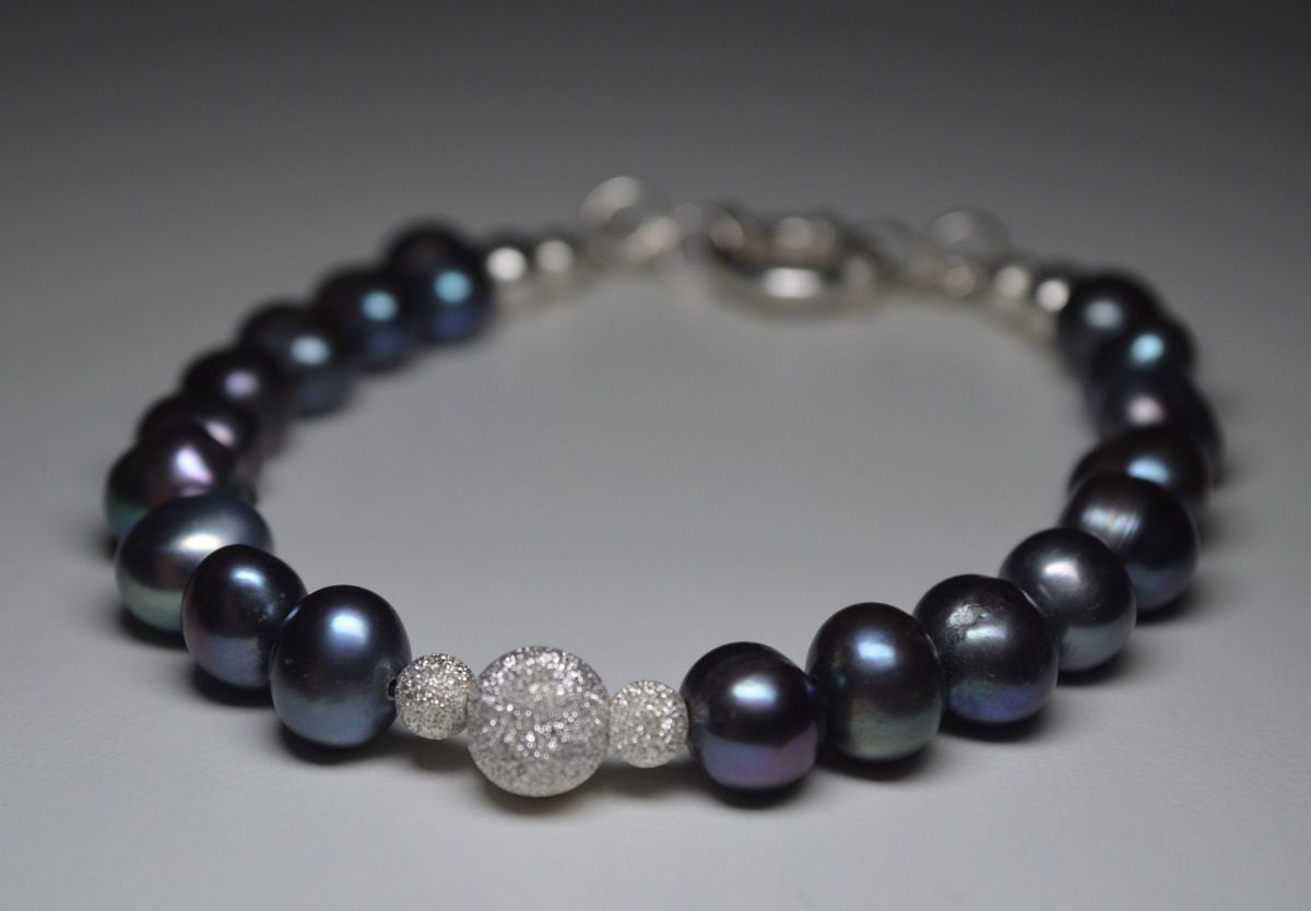 80d95f7e551e pulsera perlas cultivadas tahiti plata 925 italiana marinero. Cargando zoom.