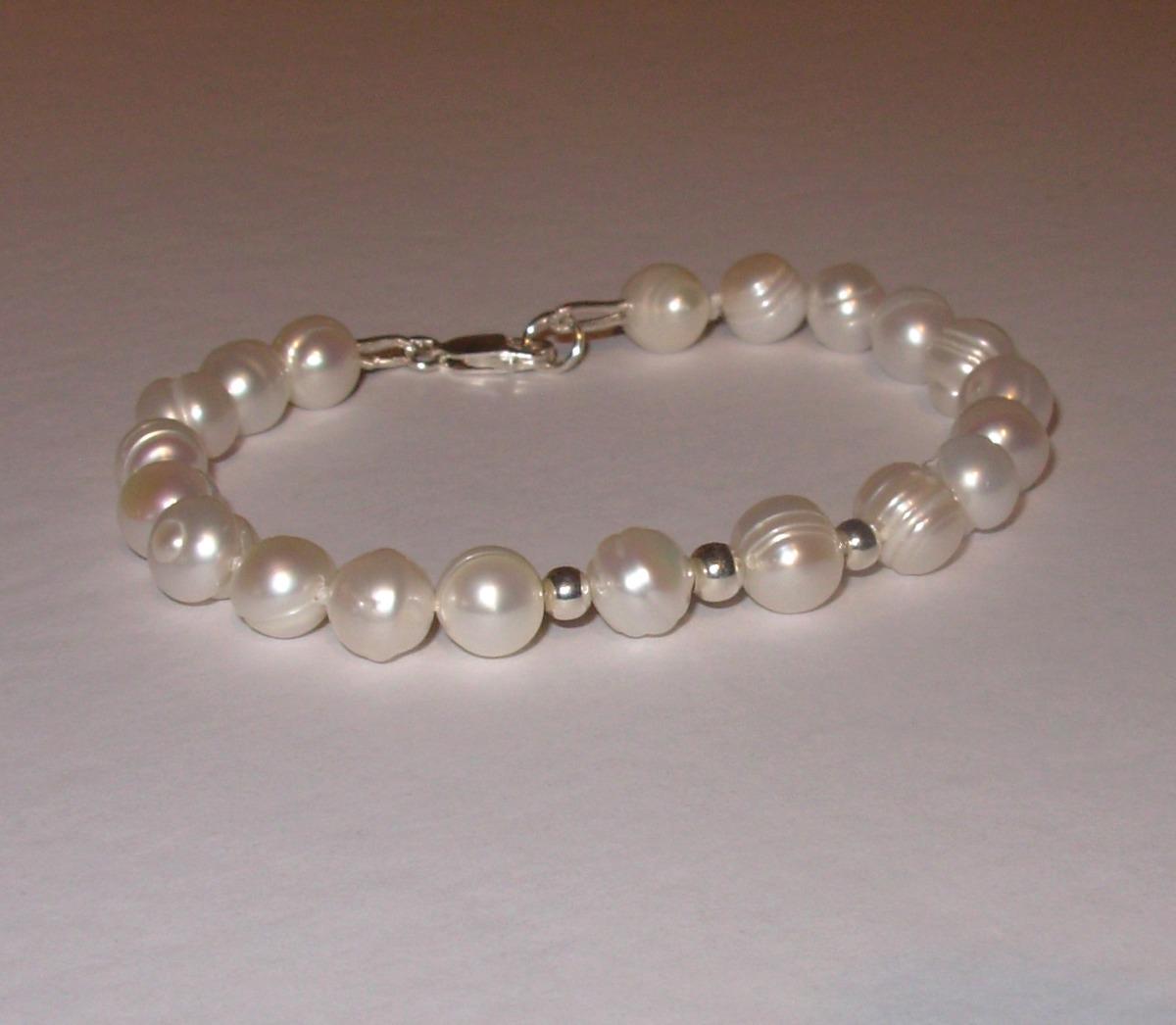 cb9aa13f6de5 pulsera perlas naturales cultivadas y plata pyn. Cargando zoom.