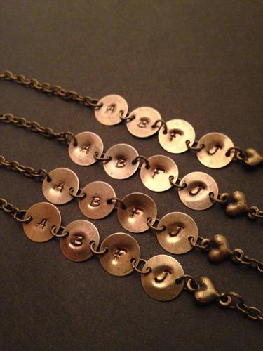 pulsera personalizable medallas tono bronce @somosgalu
