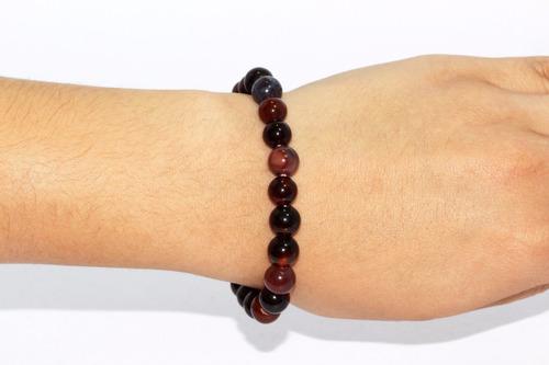 pulsera piedra natural cuarzo ágata roja chakras ppn261
