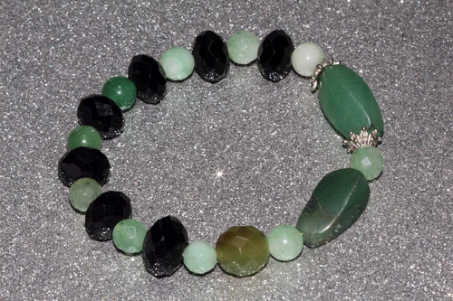 pulsera piedra natural cuarzo aventurina verde chakra ppn452