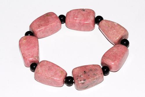 pulsera piedra natural cuarzo jaspe roja onix chakras ppn393