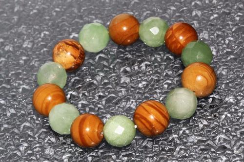 pulsera piedra natural jaspe rayado aventurina verde ppn403