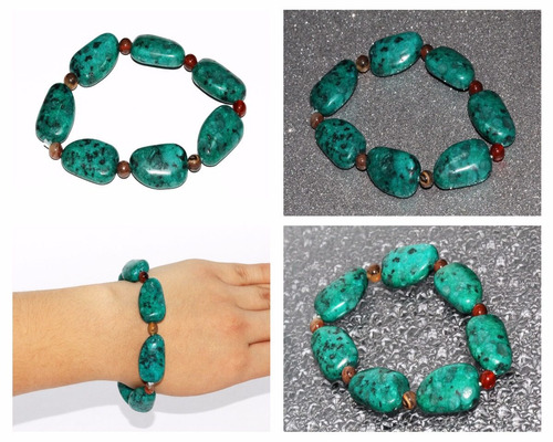 pulsera piedra natural jaspe verde chakras ppn375