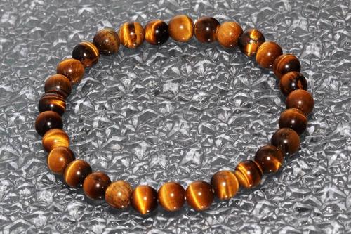 pulsera piedra natural ojo de tigre cuentas lisas ppn376