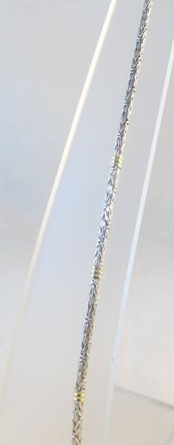pulsera plata 925 maciza c/ oro bizonet 3mm 21cm