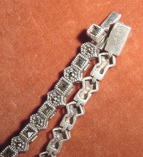 pulsera plata 925 marquesitas completas joya europea firmada