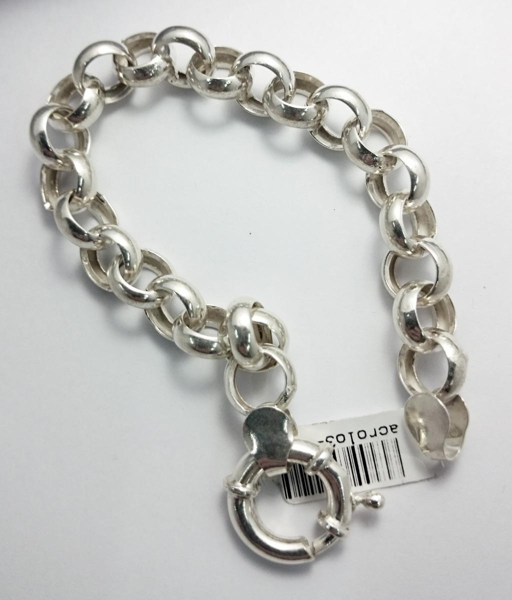 27520dd87224 pulsera plata 925 rolo gruesa 11mm cierre marinero jr. Cargando zoom.