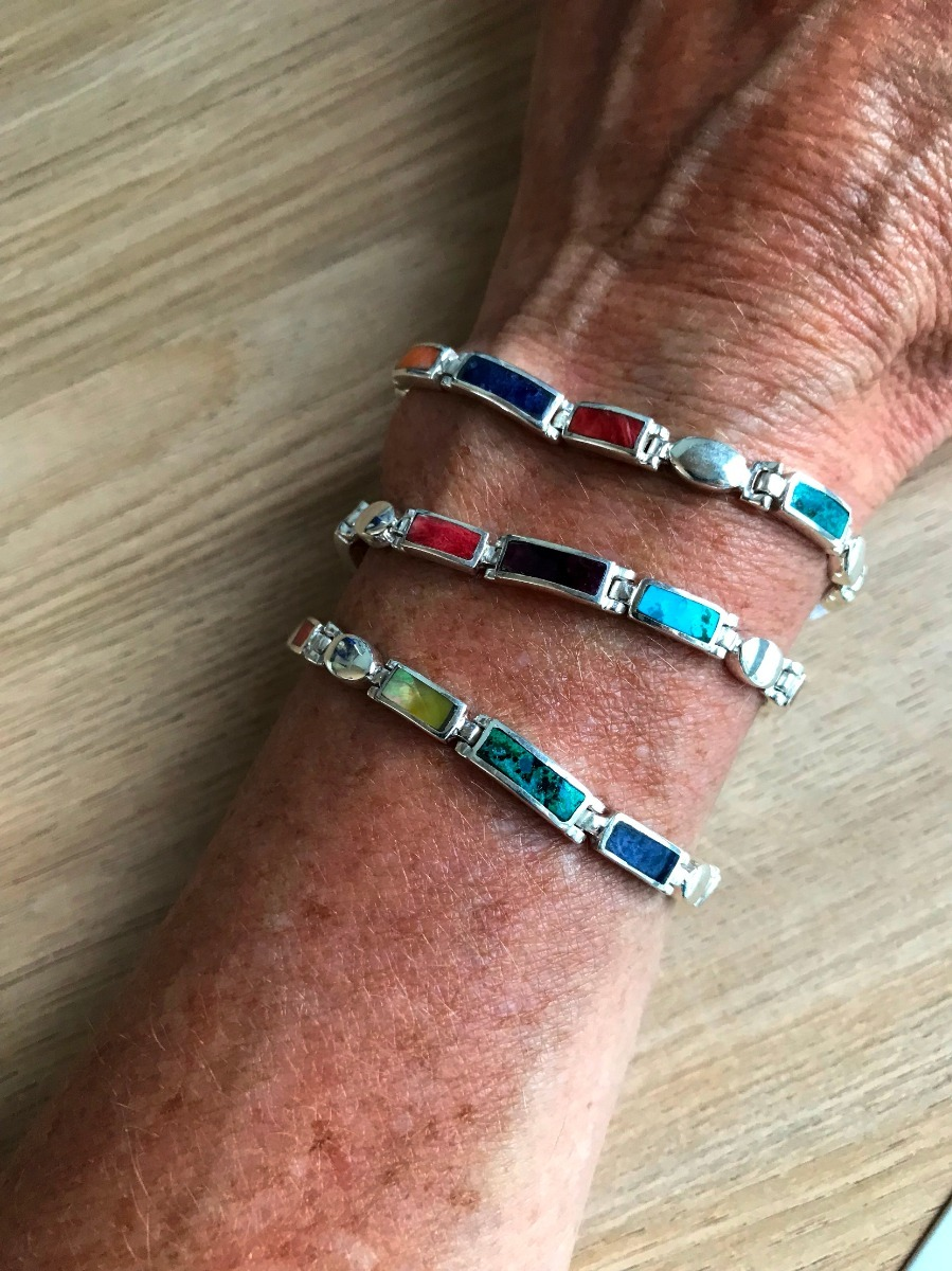 e271b1355197 pulsera plata peruana con piedras. nuevos modelos! Cargando zoom.