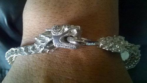 pulsera plata serpiente emplumada