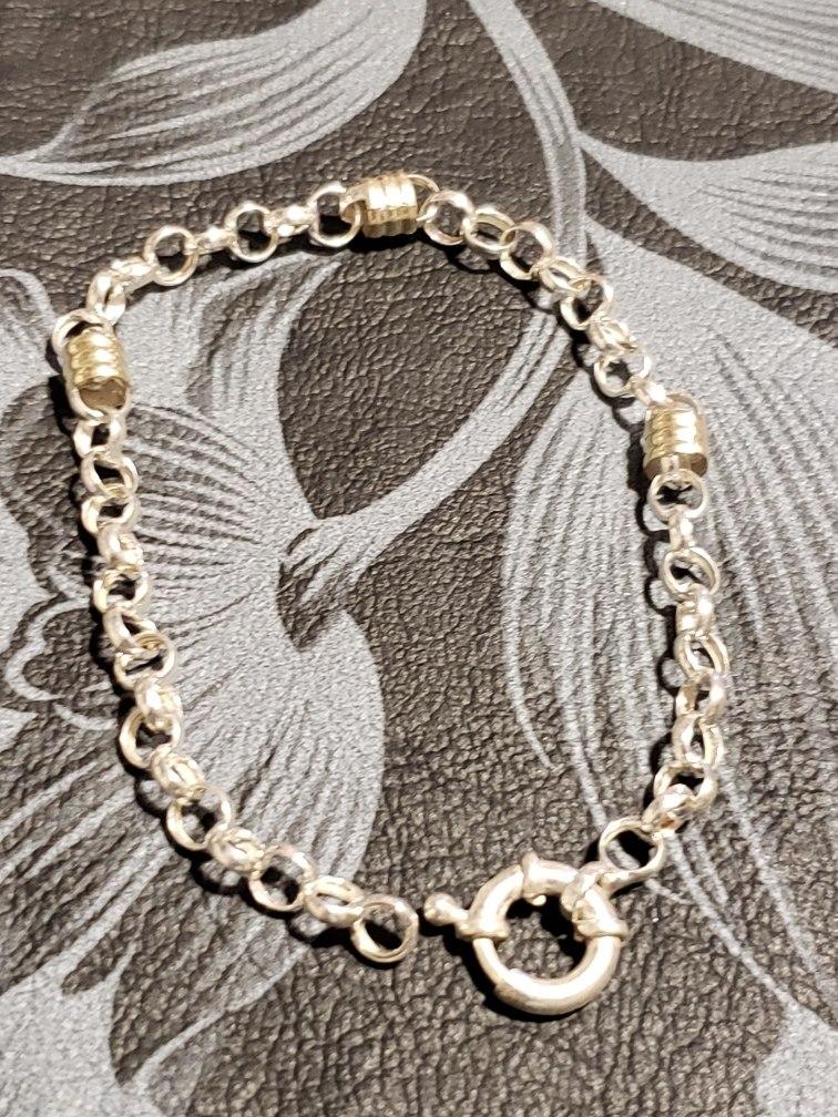 0bb70f931097 pulsera plata y oro anillos en oro 18kl 1094. Cargando zoom.