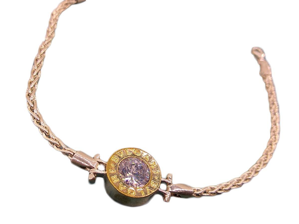 002bcf50f4fe pulsera plata y oro bulgari joyas mayre. Cargando zoom.