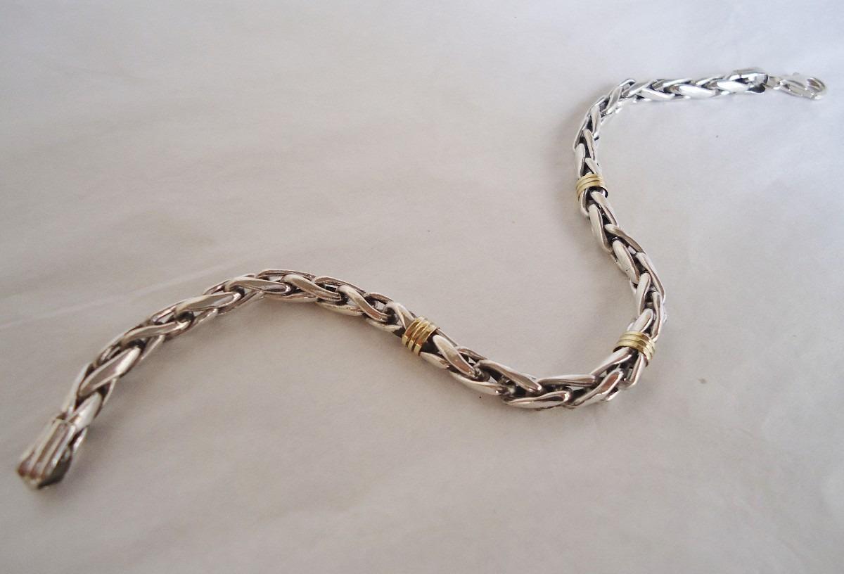 272f00af2978 Pulsera Plata Y Oro Cordón Nº 3 Hombre
