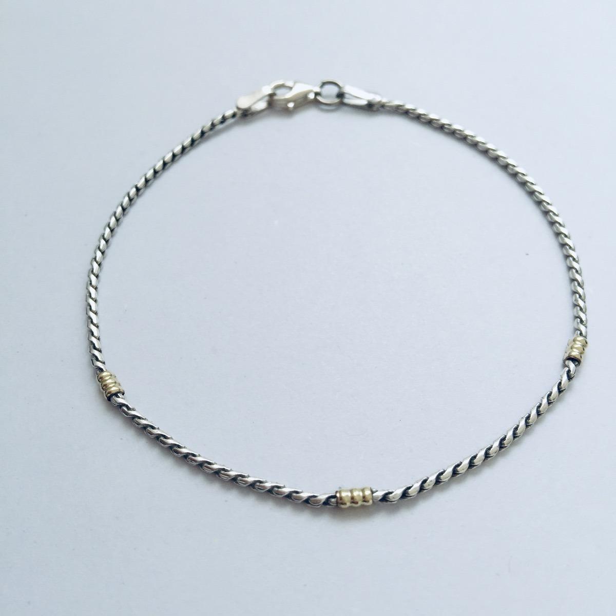 5dab84125bf8 pulsera plata y oro pincet 21cm ® prill joyas. Cargando zoom.