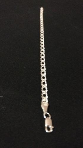 pulsera pulso de plata 925 tejido doble mujer hombre unisex