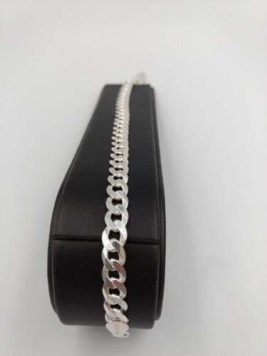 pulsera pulso de plata fina 925 cubano hombre mujer unisex