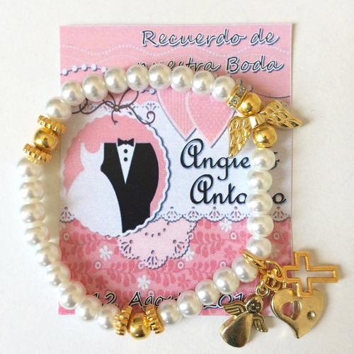 pulsera recuerdo primera comunion bautizo baby shower boda