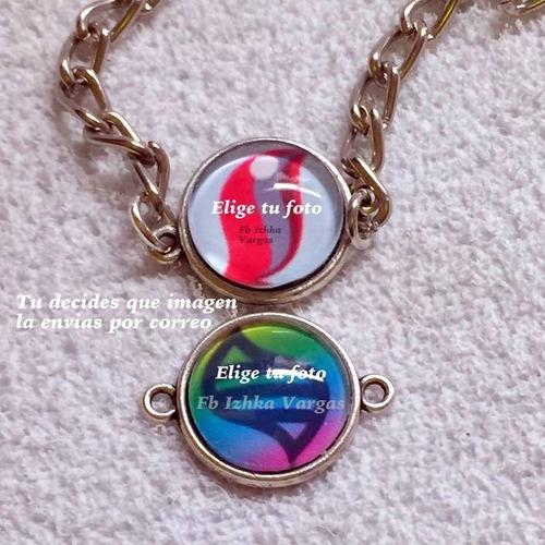 pulsera relicario camafeo con tu foto personalizada