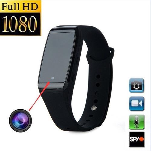 pulsera reloj camara espia 1080p graba video y sonido.