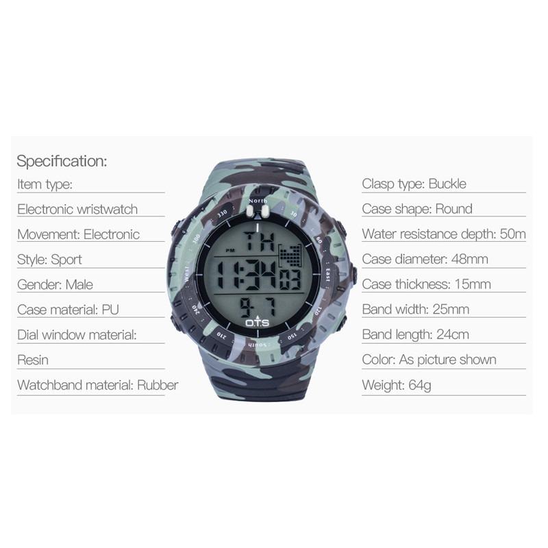 9ef1c0de138c Reloj Pulsera Hombre Deportivo Reloj Digital Sumergible 50m ...