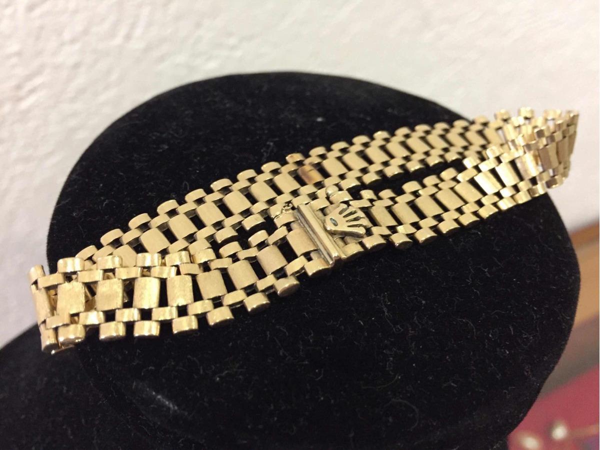 471070d1b25a pulsera rolex en plata con baño de oro de 14k. alta joyeria. Cargando zoom.