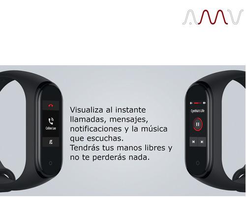 pulsera smartband xiaomi mi band 4 display botón touch amv