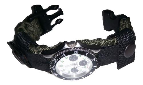 pulsera supervivencia paracord para reloj 21.5 cm.