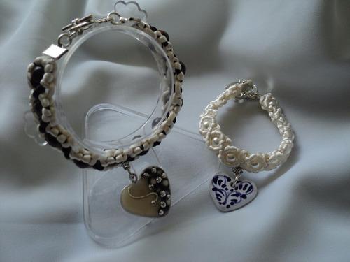 pulsera talavera puebla artesanía piedra natural moda