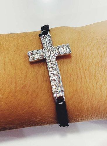 pulsera tejida cruz
