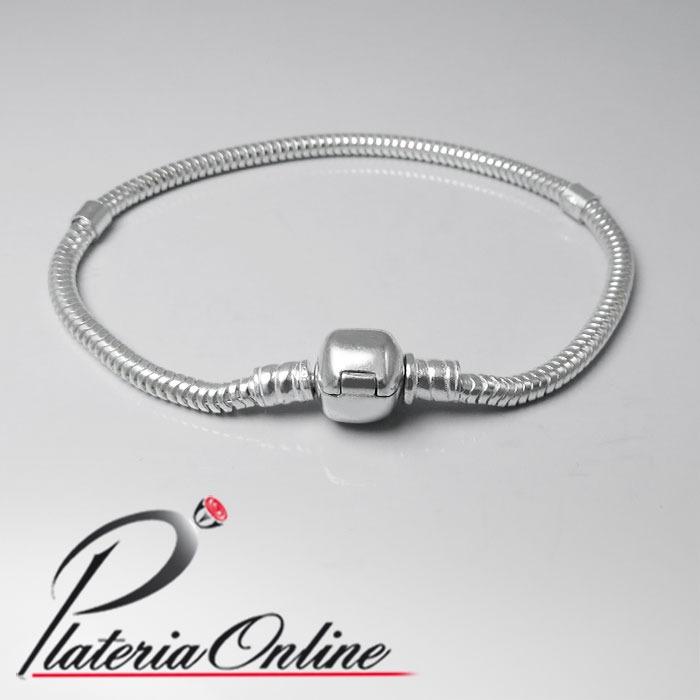 f9ef671126fe Pulsera Tipo Pandora De Plata 925 Largo 18cm