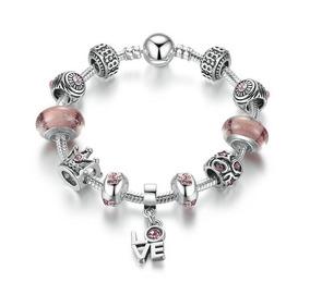 0ce02303dee4 Pulsera Tipo Pandora Para Mujer Dije Love Queen Corona