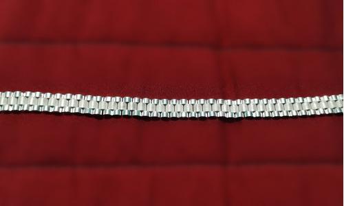 pulsera tipo rolex para hombre de plata 925