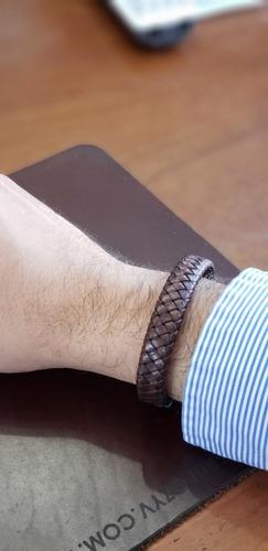 pulsera trenzada de cuero