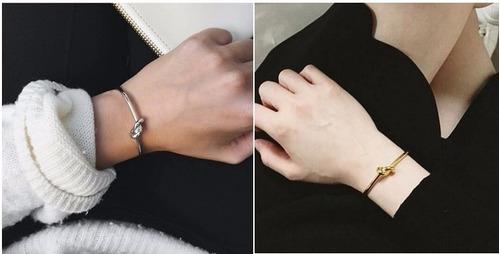 pulsera unisex bangle anudada compromiso.