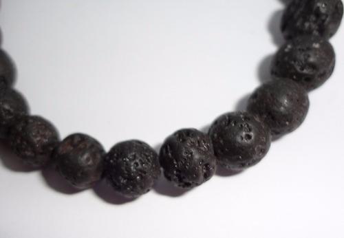 pulsera unisex piedra lava piedra volcánica
