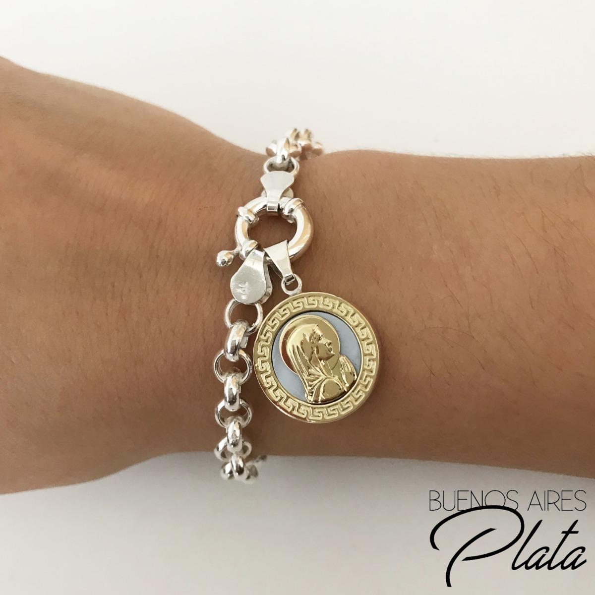 3ada52a6b915 pulsera virgen niña roló plata 925 oro 18k y nácar garantía. Cargando zoom.