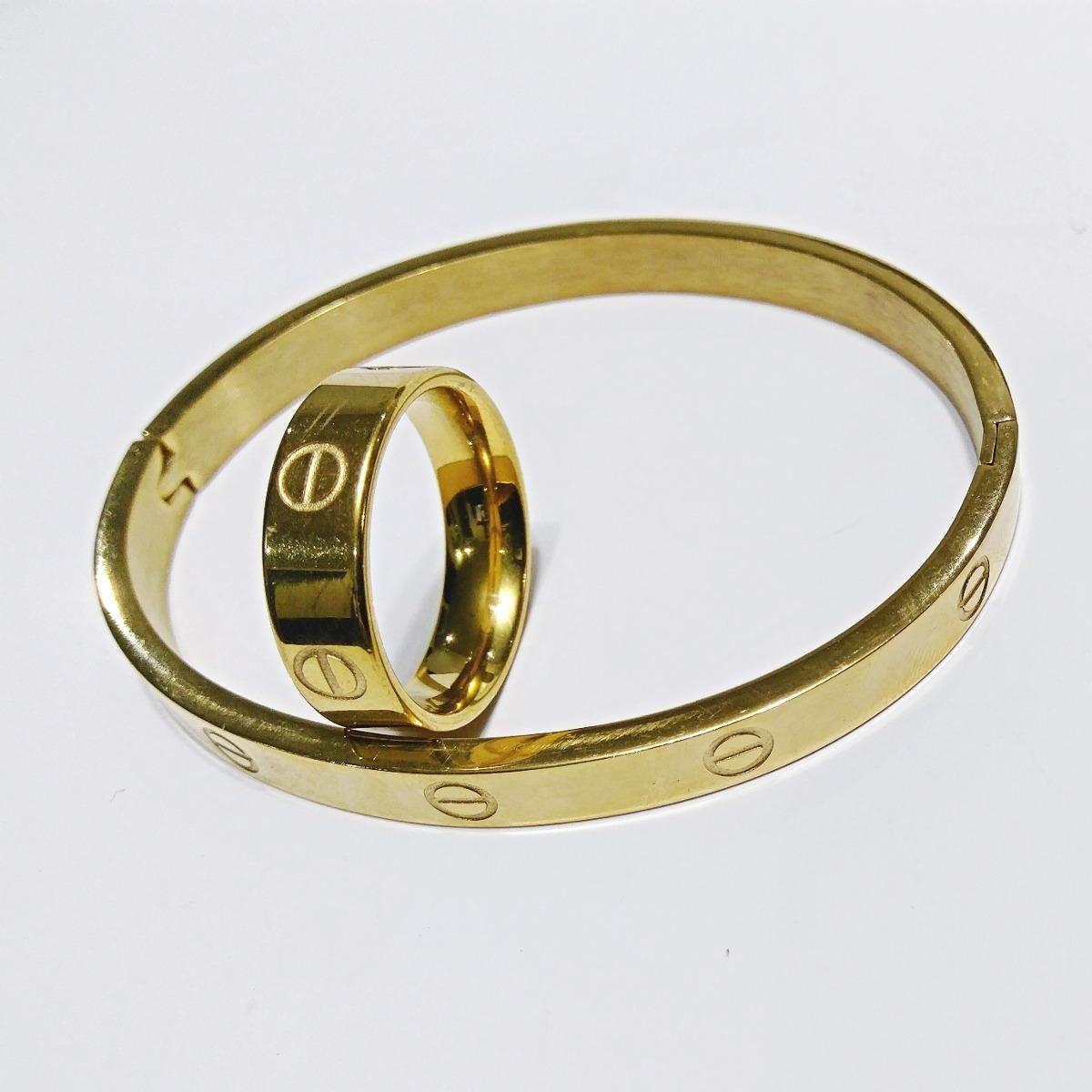 ee5fda26a61 pulsera y anillo cartier love oro laminado 24k envío gratis. Cargando zoom.