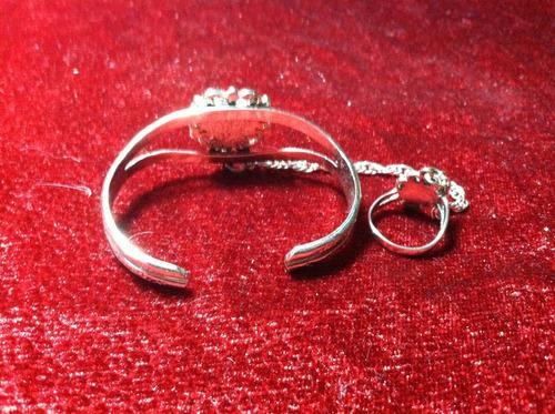 pulsera y anillo corazon num 5