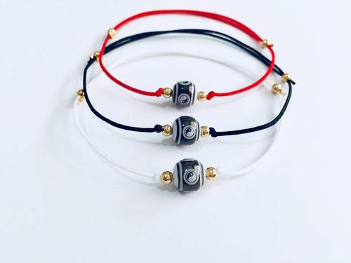 pulsera yin yang hilo rojo blanco o negro mayoreo c/envio
