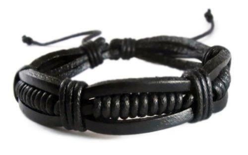 pulsera zen retro negra pulsera cuero pulsera cuero pulsera