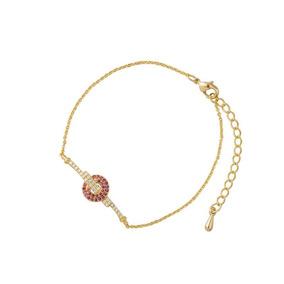 9d844a74a30d Pulsera Dije Circular Placa Zirconias Tono Rosa Oro Lam 18