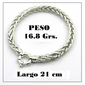 4f26bb9bf386 Pulseras Plata Hombre Eslabones - Joyas y Bijouterie en Mercado ...