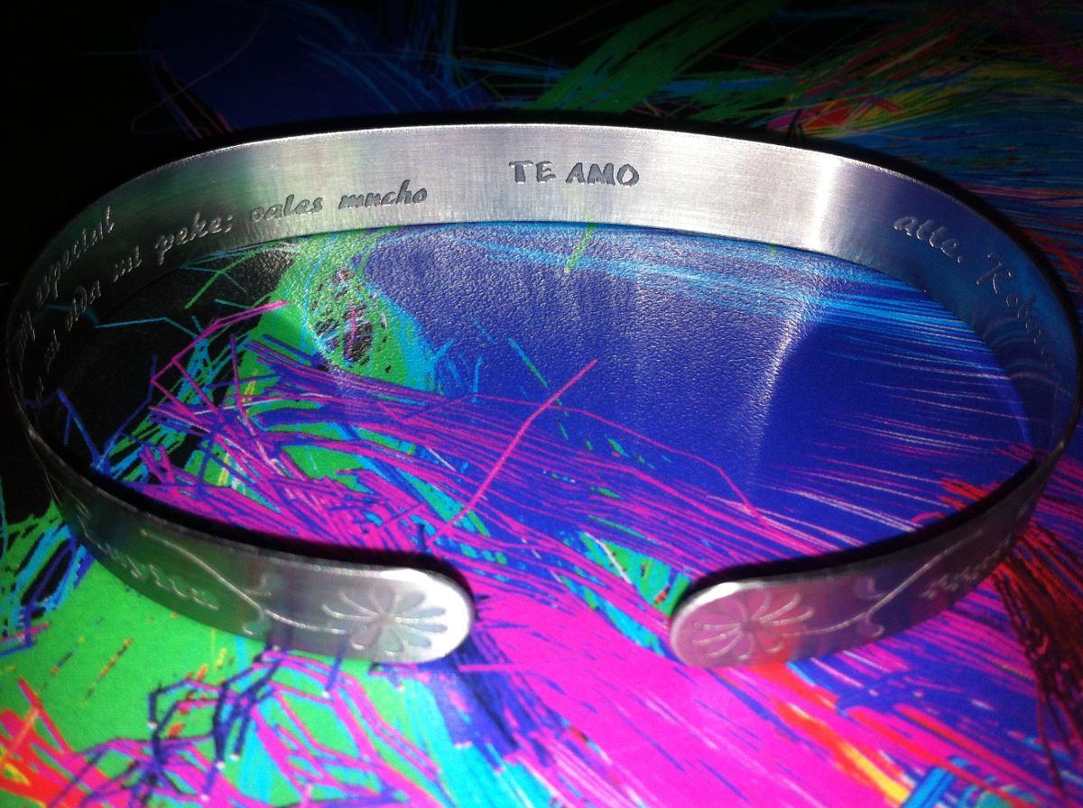6102118a0340 Pulseras Acero Inoxidable San Valentin Personalizadas -   150.00 en ...
