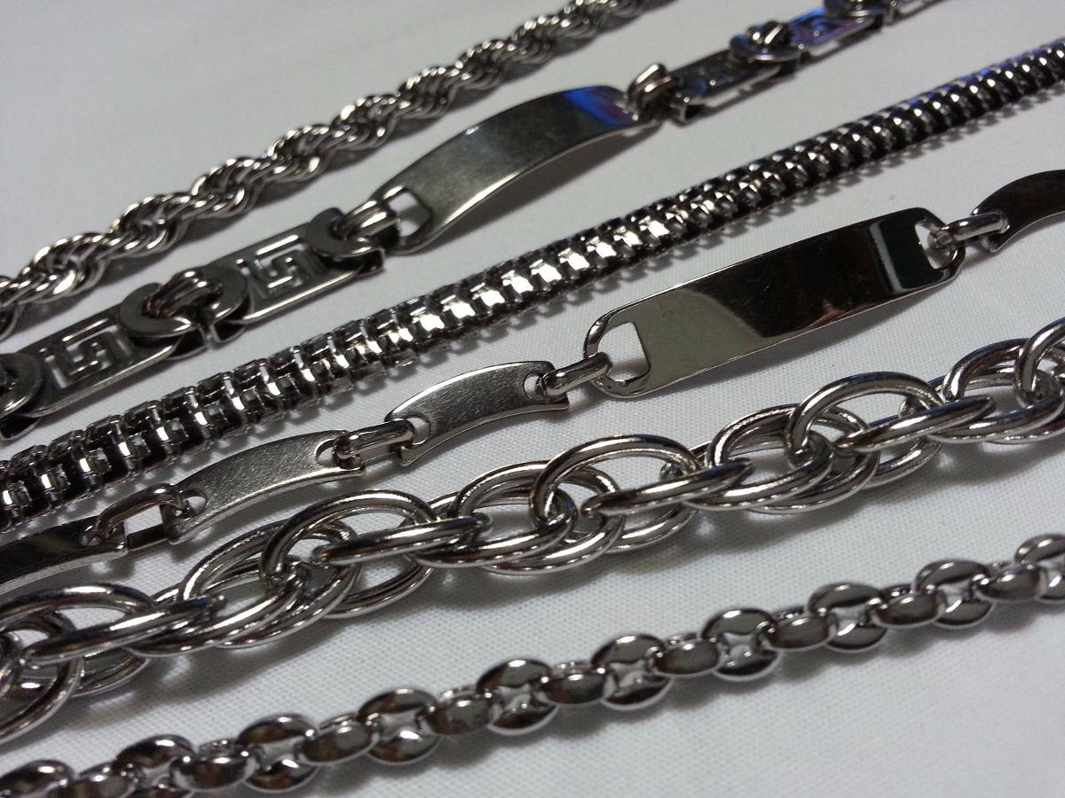 88534d44f45e pulseras acero quirurgico para hombre combo x 6. Cargando zoom.