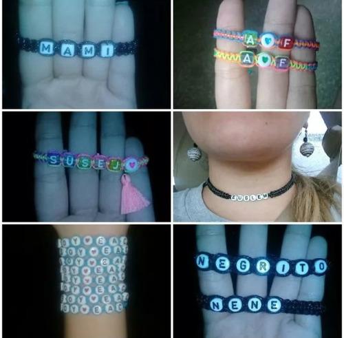 pulseras bae personalizadas letras bisuteria regalo pareja