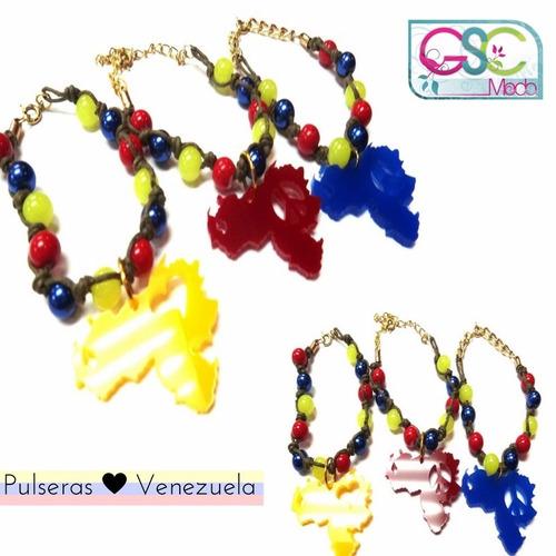 pulseras bandera de venezuela tricolor vzla patria accesorio
