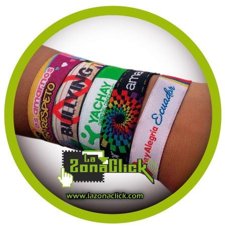 pulseras bordadas por mayor y menor manillas tejidas